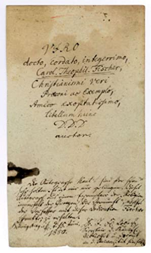 "Autograph inscription signed (""auctor""), from the first: Kant, Immanuel, German"
