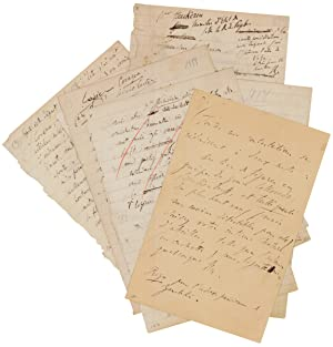 14 autograph letter fragments, written in English: Liszt, Franz, Austro-Hungarian