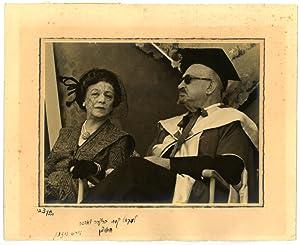 Photograph signed in Hebrew on mat below.: Weizmann, Chaim, Zionist
