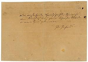 """Eigenh. Brief (Fragment) mit U. (""""Heinrich"""").: Kleist, Heinrich von,"""