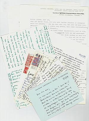 6 eigenh. (Bild-)Postkarten und 5 ms. Briefe  Bienek, abc77dc2f30a