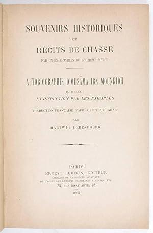Kitab al-I'tibar, French]. Souvenirs historiques et récits: Usamah ibn Munqidh