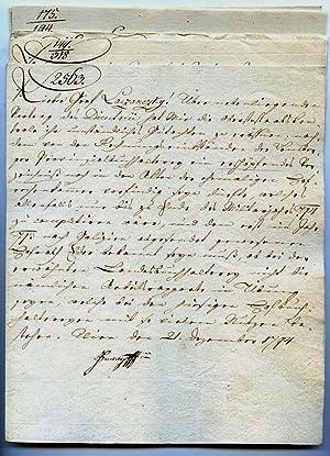 9 Briefe mit eigenh. U.: Franz II. (I.), römisch-deutscher Kaiser (1768-1835).