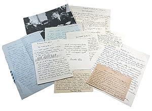 6 autograph letters signed and 4 autogr.: Bártok, Béla, Hungarian