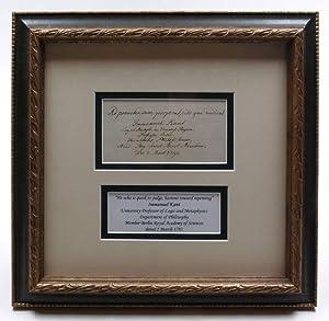 Autograph quotation signed.: Kant, Immanuel, German