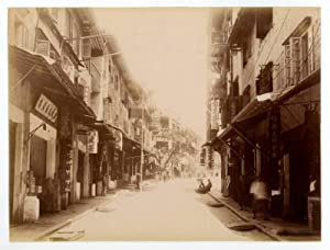 A fine collection of four late 19th century original photographs of scenes in Hong Kong.: Hong Kong...