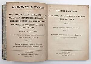 Kitab al-maqamat al-Hariri, latine]. Haririus latinus, sive: Al-Hariri, al-Qasim Ibn-`Ali
