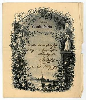 Eigenh. Albumblatt mit U.: Deinhard-Deinhardstein, Johann Ludwig,
