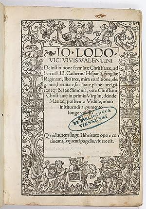 De institutione foeminae [.] libri tres, mira: Vives, Juan Luis.