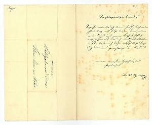 Eigenh. Brief mit U.: Geiger, Peter Johann