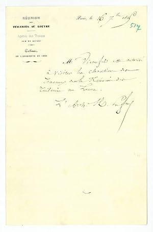 Eigenh. Brief mit U.: Lefuel, Hector Martin,