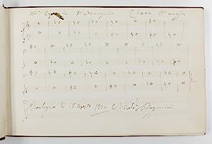 Album of 12 autograph manuscripts signed by: Paganini, Niccolò, Italian