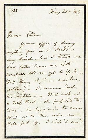 Autograph letter signed.: Brontë, Charlotte, English