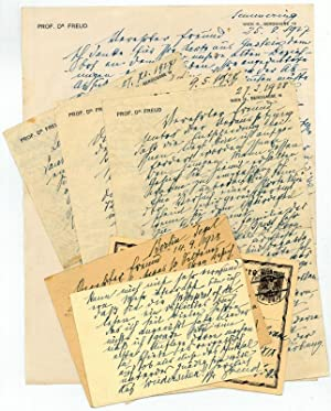 4 autograph letters signed and 3 autograph: Freud, Sigmund, founder