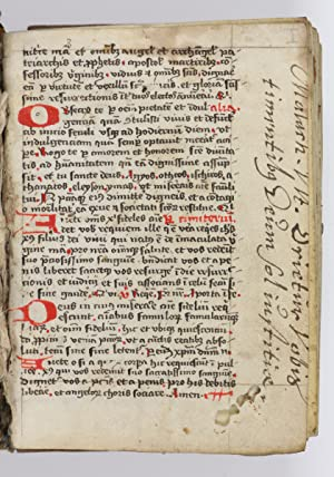 Latin ms. on vellum.