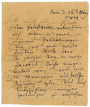 Eigenh. Brief mit U.: Jean Paul (d.