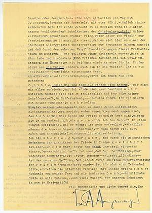 Ms. Brief mit eigenh. U.: Angermayer, Fred Antoine,