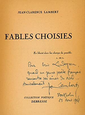 Fables choisies.: Lambert, Jean-Clarence, Dichter