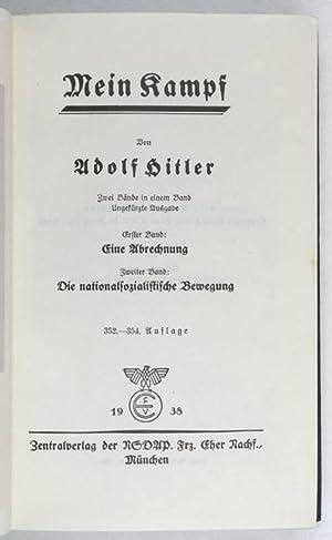 Mein Kampf. Zwei Bände in einem Band.: Hitler, Adolf, German