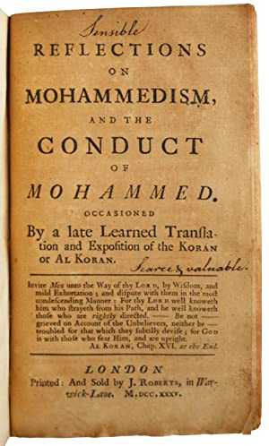 on Mohammedism, and the conduct of Mohammed.: Reflections