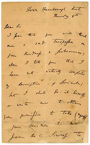Autograph letter signed.: Darwin, Charles, English