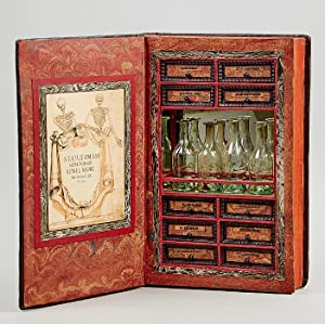 An apothecary's secret storage box, concealed in a 17th century folio.: Book Box].