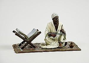 Bronze statue of an Arabic Qur'an scribe.: Bergman, Franz Xaver,