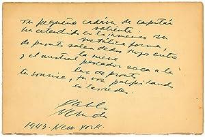 Autograph quotation signed.: Neruda, Pablo, Chilean