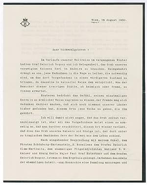 "TLS (""Fürst Kinsky"").: Kinsky, Ulrich Ferdinand"