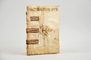 An early 16th century ledger in a fine limp vellum binding.