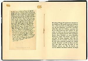 Autograph manuscript. In: The same, Adolf Loos.: Kraus, Karl, Austrian