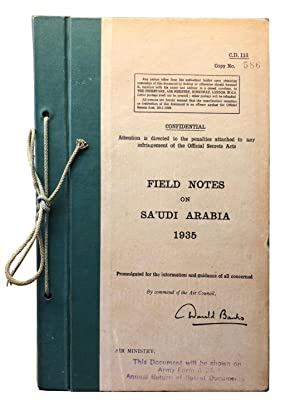 Field notes on Sa'udi Arabia 1935. Confidential.: Banks, Donald).