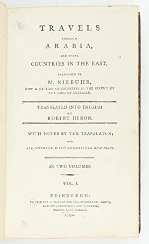Travels through Arabia, and other countries in: Niebuhr, Carsten.