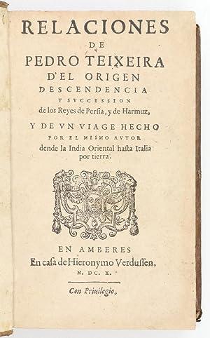 Relaciones de Pedro Teixeira d'el origen descendencia: Teixeira, Pedro, [Mir