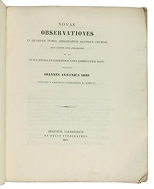 Novas observationes in quosdam numos Abbasidarum aliosque: Arri, Giovanni Antonio.