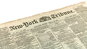 New-York Tribune: six original issues with articles: Marx, Karl].