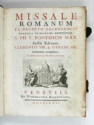 Missale romanum, ex decreto sacrosancti Concilii Tridentini: Missale romanum].