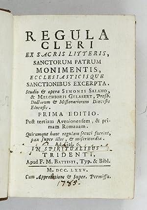 Regula cleri ex sacris litteris, sanctorum patrum: Salamo, Simon /