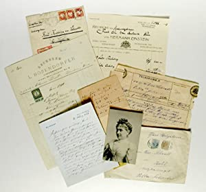 Collection of letters, postcards, telegrams, etc. to: Schratt, Katharina, actress