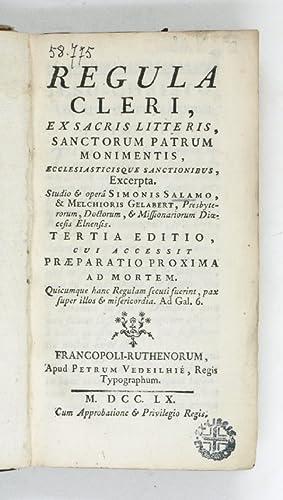 Regula cleri, ex sacris litteris, sanctorum patrum: Salamo, Simon /