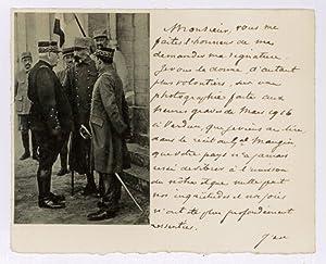 Autograph lettercard signed.: Bazelaire, Georges de,