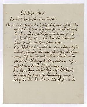 """Brief mit eigenh. U. (""""FGKinsky"""").: Kinsky von Wchinitz"""