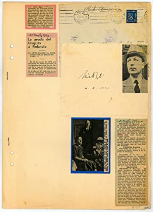 Collection of autographs by northern European political: WWII - Finland,