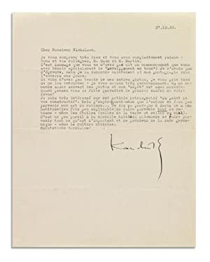"Typed Letter Signed (""Kandinsky"").: Kandinsky, Wassily, Russian painter and art theorist ..."