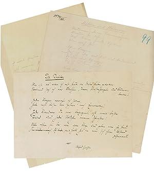 Collection of 3 autograph poems, 2 autograph: Klabund (d. i.