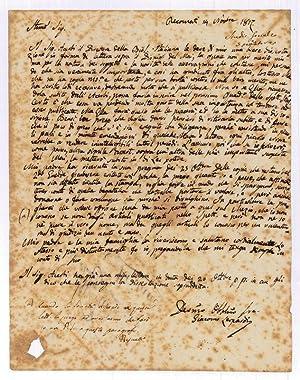 Autograph letter signed.: Leopardi, Giacomo, Italian