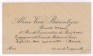 Carte De Visite Van Brentzen Aline
