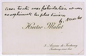 C.A.S.: Malot, Hector, romancier