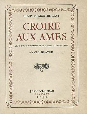 Croire aux Ames.: BRAYER (Yves)] MONTHERLANT