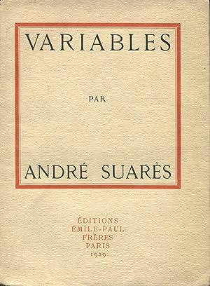 Variables.: SUARES (André) :
